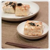 豆腐のしらす焼き