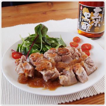 チキンの玄米黒酢ソースイメージ