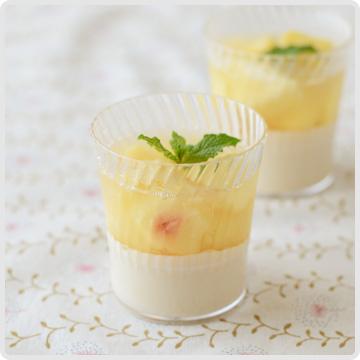 桃とミルクの2層ゼリーイメージ