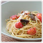 ミニトマトのペペロンチーノ