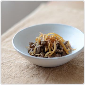 新生姜と牛肉のしぐれ煮イメージ