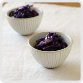 紫キャベツとベーコンピクルス
