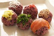 黒米の手鞠寿司イメージ