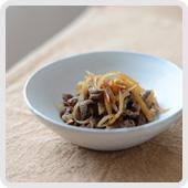 新生姜と牛肉のしぐれ煮